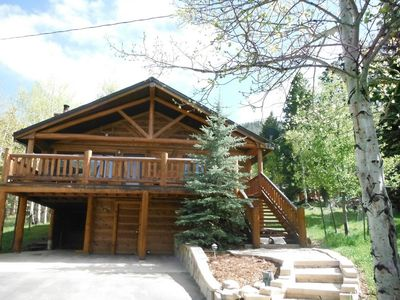 Situated on 4 acres of aspens and mature pines.