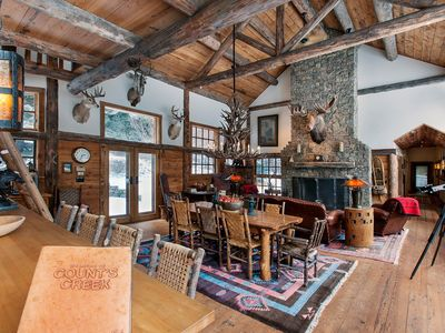 Counts Creek Cabin - With 2 miles of private fishing on Mill Creek!  Luxury and Privacy!