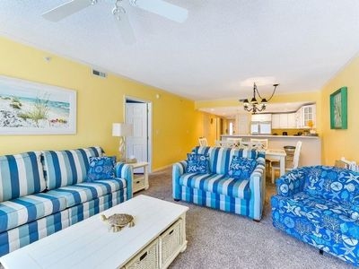 Photo for Surf Watch 103 - Pristine with free WiFi / 3 br accommodates 8 / outdoor pool / 2 car parking/ ac...