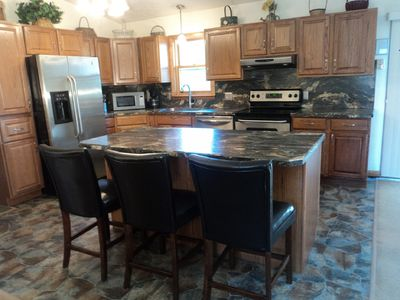 All new kitchen and appliances with large island
