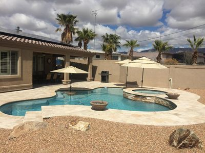 Photo for Custom home with pool & spa and 2 master suites. Perfect for snowbirds!