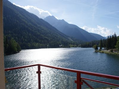 Photo for Beautiful apartment for 4 people with breathtaking views of Lake Champex