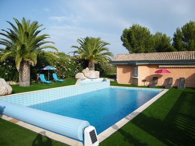 Photo for Beautiful villa near Narbonne and Béziers on 3000 m2 1st year of rent