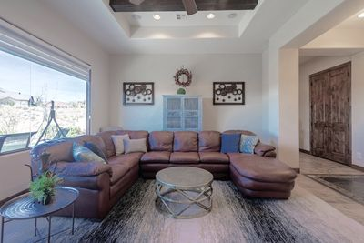 Large couch.
