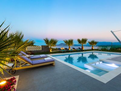 """Photo for New luxurious Villa next to """"Marathi"""" Beach,Offering Spectacular Panoramic Views"""