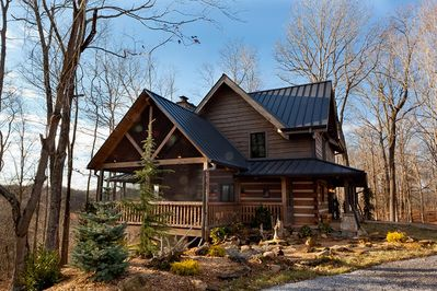 The cabin and most of the ranch are beautifully landscaped.