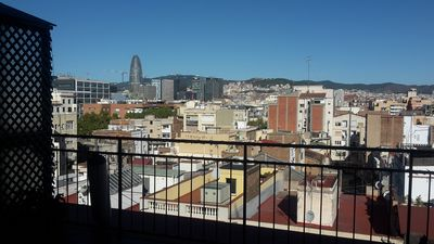 Photo for Lovely 2-bedroom penthouse close to Barcelona beach with terrific views