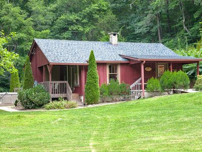 Photo for Hummingbird Cabin - on 73 acres, 15 min to DT, Hot Tub, Hike Trails