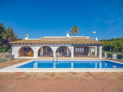 Photo for CALA PINETS, charming villa in Benissa, Alicante with sea views for 8