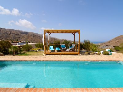 Photo for Charming country house with fabulous sea views, private pool, 5 minutes to beach