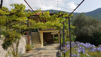 Photo for Renovated holiday home in Liguria, Riviera, sea view, gr. Garden (olives, wine)