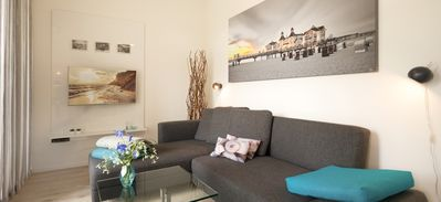 Photo for Apartment Einkehr **** (DTV) | 50 sqm, max. 2 + 1 pers. - Villa recurrence | Modern apartments near the beach