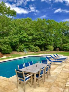 Photo for Bridgehampton classic set on 3+ acres with 40x20 saltwater pool and spa.