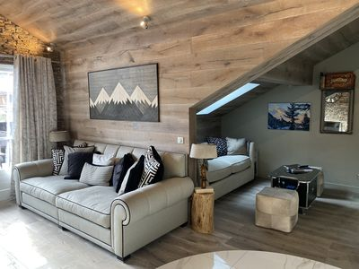 Photo for Ski in /Ski out Penthouse Apartment Les arc 1950.
