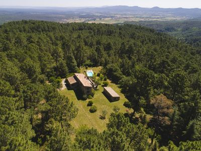 Photo for 17th century Renovated farmhouse in the heart of a 7 ha wooded property Swimming pool without neighbors