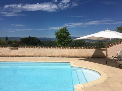 Photo for Old farmhouse completely renovated, breathtaking views of the Beaujolais