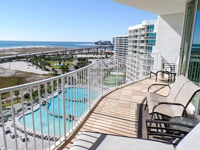 Photo for NEW LISTING! Waterfront condo w/ easy gulf access & shared pool, hot tub, sauna