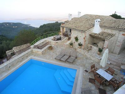 Photo for Traditional Stone Villa Olympia in Corfu, Vigla - Stunning Sea Views, Sleeps 8