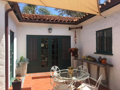 Back patio includes a gas BBQ and room for outdoor dining. Pool option available