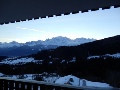 Photo for Studio 4 people - beautiful view of Mont Blanc