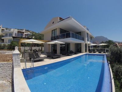 Photo for 7 bedroom villa with private infinity pool, hot tub and stunning sea views