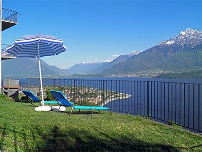 Photo for Casa Alex Primo holiday apartment with magnificent panoramic view of the lake