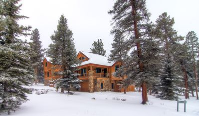 Photo for Families love this Log home! Private Hot Tub, Large Decks w/ Views!