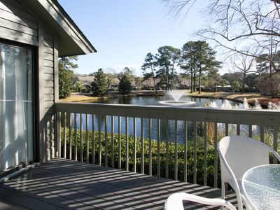 Photo for Condo w/ soaring ceilings, a deck, lagoon views, & shared tennis