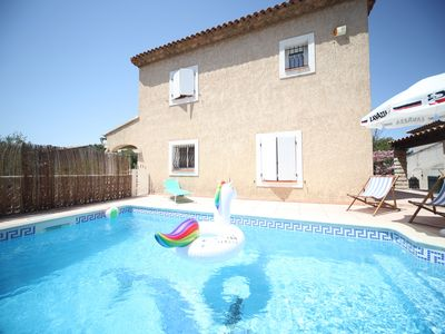 Photo for Villa Martigues 140 m2, swimming pool, 4 bedrooms, 8 people, pond view