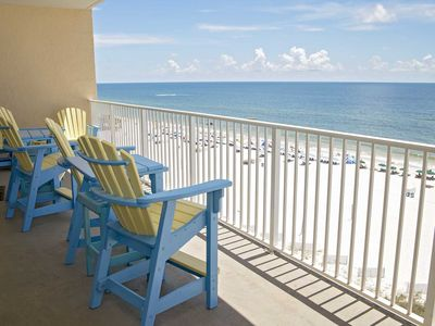 Photo for Rates Dropped ~ San Carlos 706 ~  All Tile ~  Sleeps 9 ~ Gulf Front ~ Great Location/Amenities