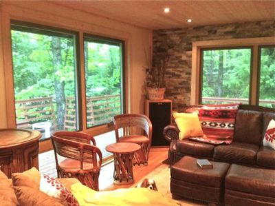 Beautiful Views From Hauser's Bayfield Cabin Living Room