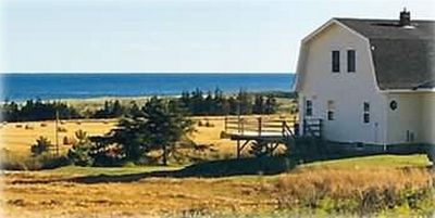 Country cottage with ocean view.