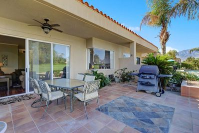 Large tiled backyard, westerly mountain view, BBQ and brand new patio furniture.