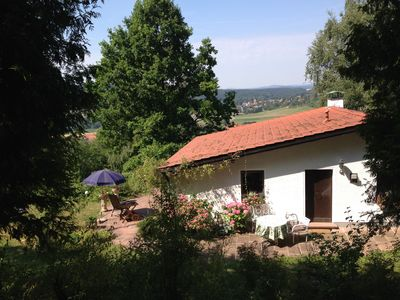Photo for Idyllic holiday home on the edge of the Fichtelgebirge overlooking Bayreuth