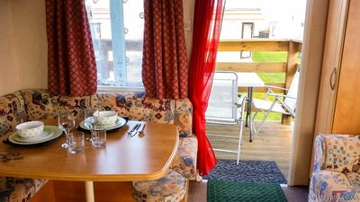 Photo for Lowely 2 bedroom holiday caravan by the sea at Leysdown-on-sea