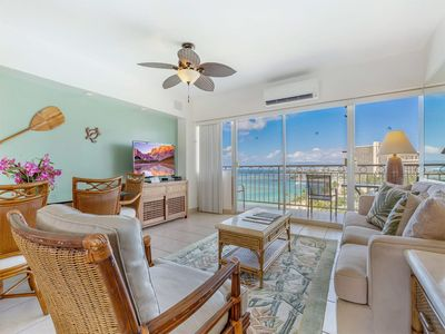 Toast Paradise! Ocean View Suite w/Kitchen, Washer/Dryer, WiFi–Waikiki Shore #1202