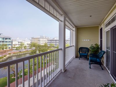 Photo for Gorgeous Waterfront Views! New Decor & Flooring - Ind/Outdoor Pools!