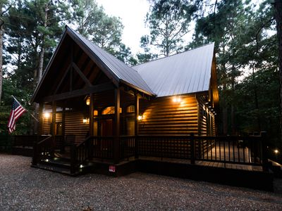 Photo for Time Well Spent Cabin! Spacious! Luxurious! 3 BR; 2.5Bath; Hot Tub; Shuffleboard