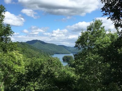 Photo for Million Dollar View of Lake Nantahala in Private Mountain Setting