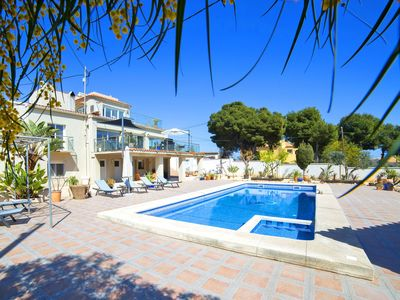 Photo for Stunning private villa for 12 people with private pool, A/C, WIFI, TV and parking
