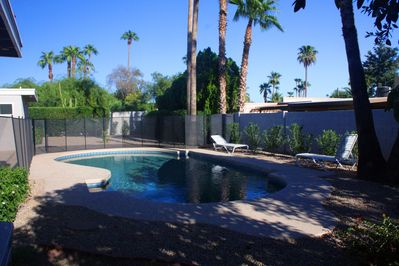 Large 16 X 34 foot free form heated pool
