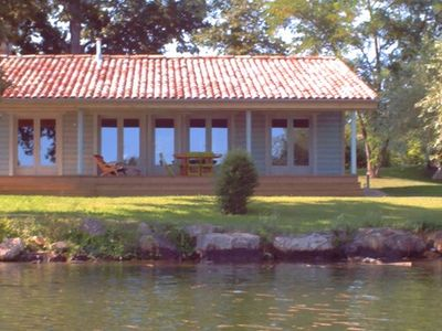 Photo for The pastel hut: wooden house with salt pool and views of the Tarn