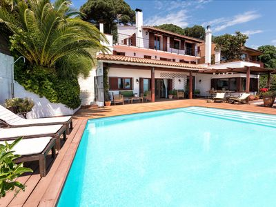 Photo for PANORAMIC ALELLA - BEST SPOT - 20 min BARCELONA - BBQ large garden and private pool - independent house over the sea with the mountains on their backs