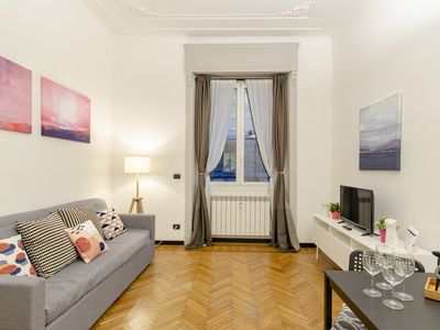 Photo for Sweet Suite  apartment in Genoa with WiFi, air conditioning & lift.