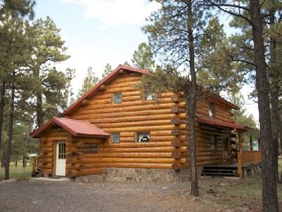 Photo for Amberwood Log Cabin In the Forest