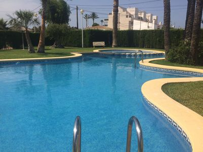 Photo for Apartment in Denia, swimming pool, padel. 150m from the beach