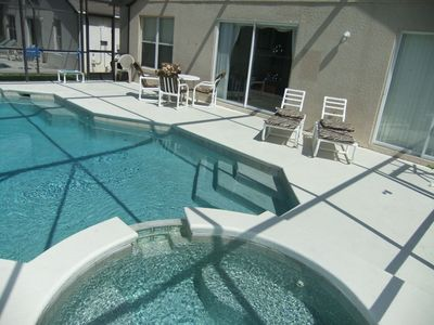 Photo for Luxury villa with own  pool/spa and conservation view. Gated Resort. Near Disney