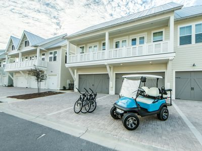 Photo for Fall Specials!* 4 Seater Golf Cart! 3 Bikes! Large Pool! ~ Mai Blue Pearl at Prominence North 30A