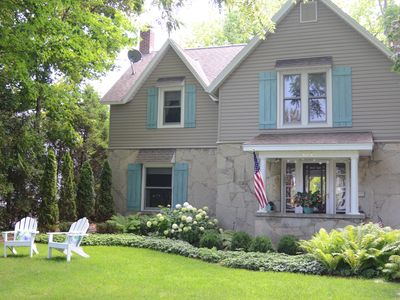 Photo for Lovely home overlooking Round Lake in Charlevoix, North Side of Harbor