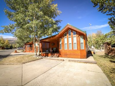 Photo for Spacious private cabin with lots of natural light, 1 bedroom, private bathroom, 2 living areas, and fully furnished kitchen perfect for all groups